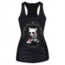 Skele kitty tank top